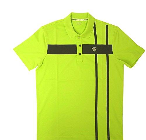 [アルマーニ] ポロシャツ ネオングリーン ゴルフ メンズ エンポリオアルマーニ EA7 A-2023 [並行輸入品]