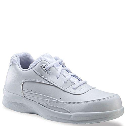 (Apex Ambulator Men's Active Walker Tie Walking Shoes White)