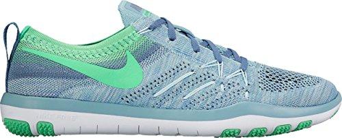 Nike Dames Gratis Tr Focus Vlieg-loop Hardloopschoenen (6.5 B (m) Ons, Mica Blauw / Electro Green-ocean Fog-white)