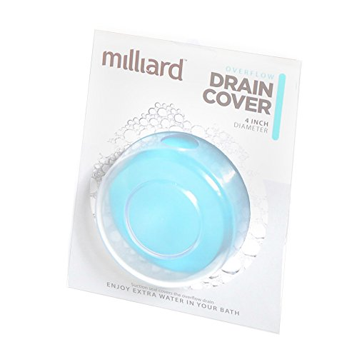 Milliard Bathtub Overflow Drain suction Cover/plug for deep water baths. (Adds 4 Inches) - Bathtub Overflow Cover