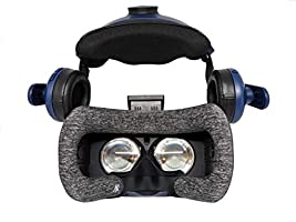 HTC Vive Pro Foam Padding Replacement (Antibacterial, Moisture Wicking Fabric) 2 Pack