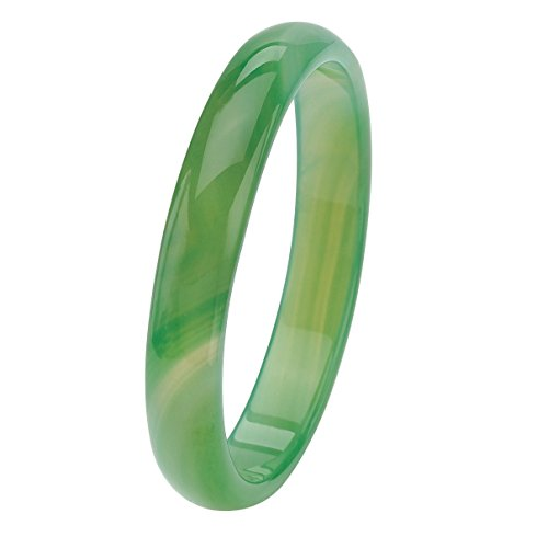 Genuine Green Agate Bangle Bracelet - Palm Fashion Beach