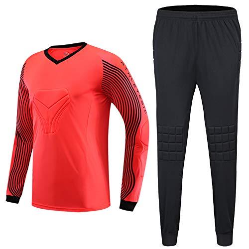 Shinestone Men's Goalkeeper Armor BodyShield Padded Jersey with Sponge Protector for Football Baseball,etc (Orange, 2X-Large) ()