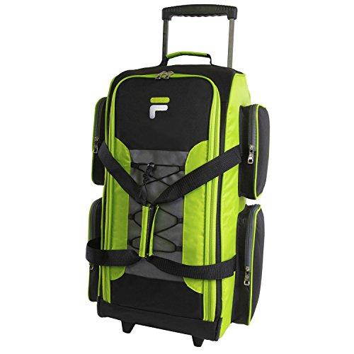 Fila 26' Lightweight Rolling Duffel Bag, Neon Lime, One Size