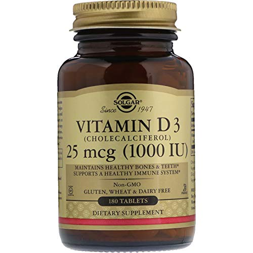 Solgar - Vitamin D3 (Cholecalciferol) 1,000 IU, 180 Tablets ()