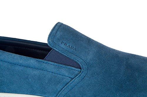 Prada Herren Wildleder Slip On Slipper Sneakers blu
