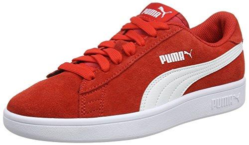 Rosso Puma Risk Da – Unisex Ginnastica Sd Scarpe Jr high White Red Bambini puma V2 Basse Smash rCOqwrP