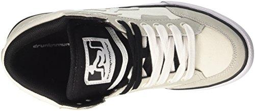 DrunknMunky Boston Classic, Zapatillas de Tenis para Hombre Bianco (White/Black)