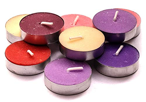 Tealight Candle Box - Exquizite Variety Collection - Highly Scented Luxury Tealight Candles - 90 pcs - Set of 15 Tealights with 6 Fragrances - Lavender, French Vanilla, Rose, Apple Cinnamon, Lilac and Black Cherry