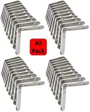 Set of 40 - Corner Brace Set (Also know as - Corner Braces, L Bracket, angle Brackets, Right angle bracket, L shaped bracket, angle brace, metal angle brackets, angle brackets, angle support brackets)