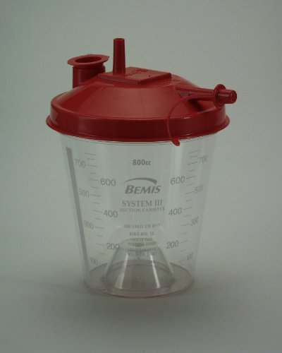 Bemes Inc Hydrophobic Rigid Suction Canisters, Beh424410h, 1 -