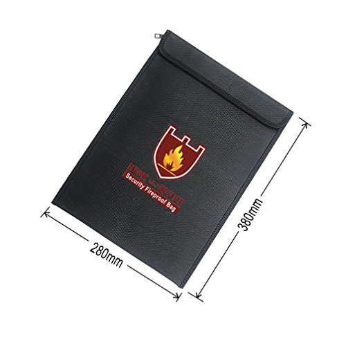 Price comparison product image Clearance !  Ninasill  Exclusive Fireproof Document Fire Resistant Pouch Document Waterproof Bag for Money Safe (Colorful)