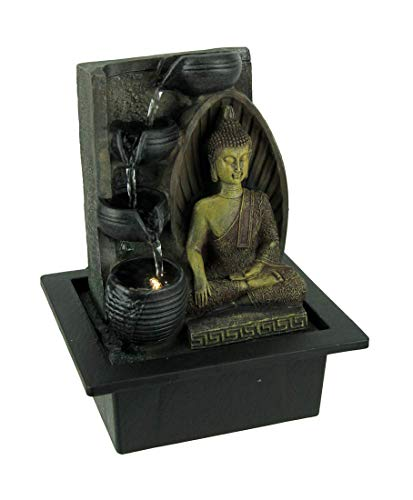 Fantasy Gifts Buddha Touching The Earth LED Lighted Tabletop Fountain