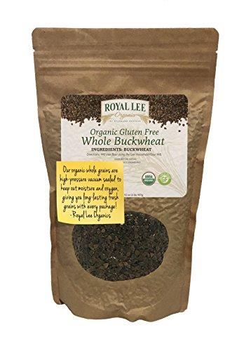 Royal Lee Organics Organic Gluten Free Whole Buckwheat Grain (2 lb bag) Buckwheat Whole Grain