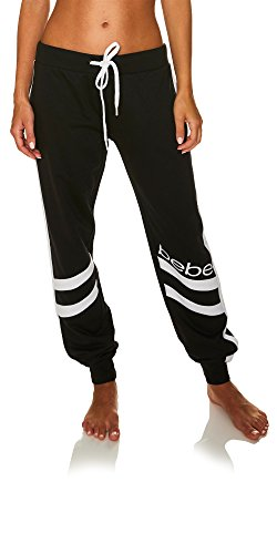 bebe Womens French Terry Jogger Lounge Sleep Sweatpants Pajamas Black Medium from bebe