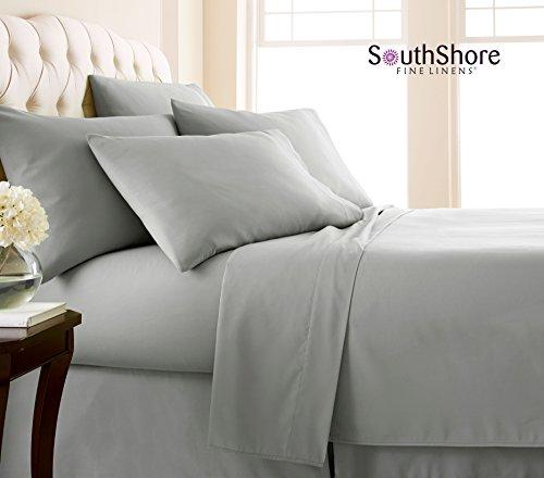 Southshore Fine Linens 6 Piece - Extra Deep Pocket Sheet Set - STEEL GRAY - King (Extra Deep King Sheet Set)