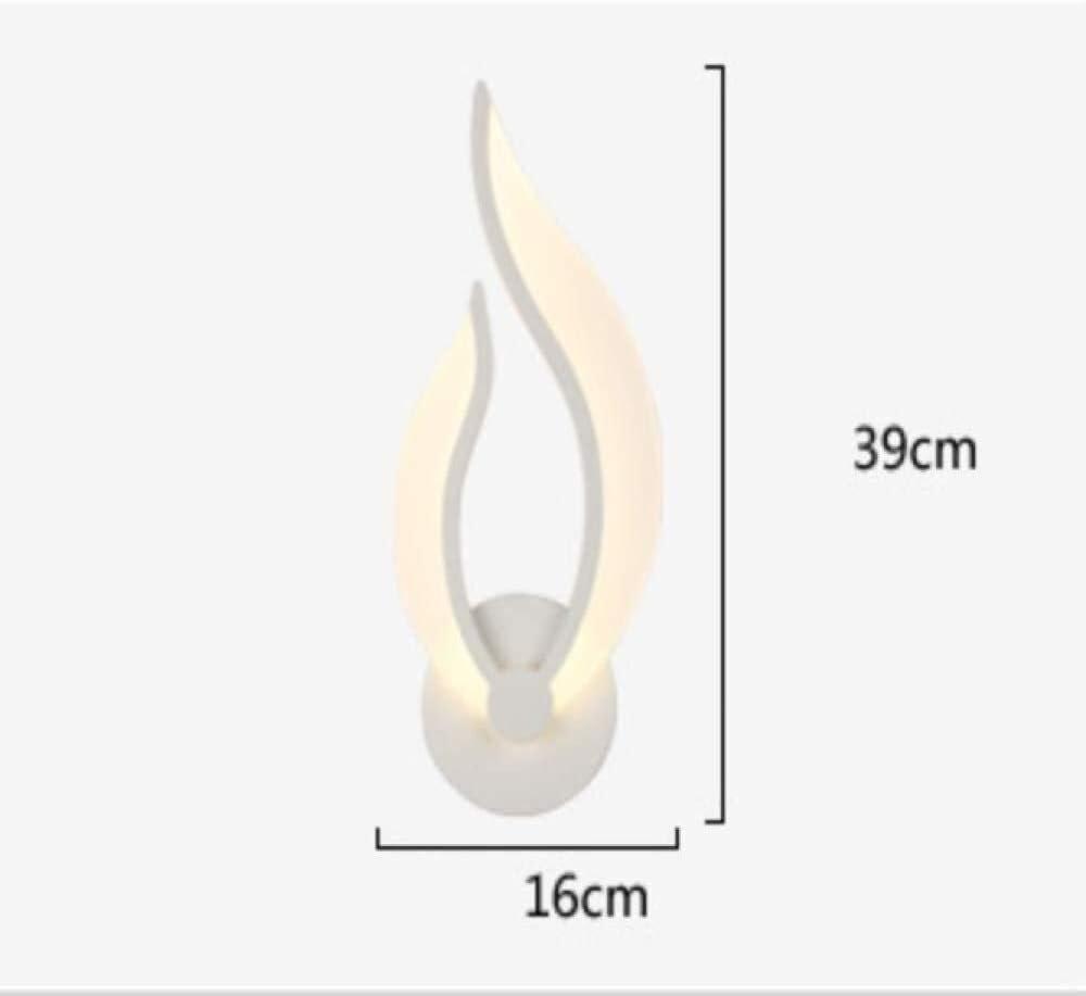 Color : R/é LED Applique acrylique Wall Washer Chambre de chevet Luminaire Mode nordique moderne Minimaliste Applique H/ôtel Aisle Entr/ée Sconce