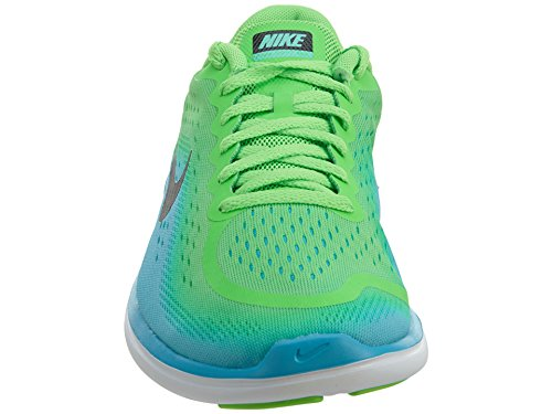 Nike Barn Flex 2017 (gs) Løpesko Raseri Grønn / Svart-klor Blå