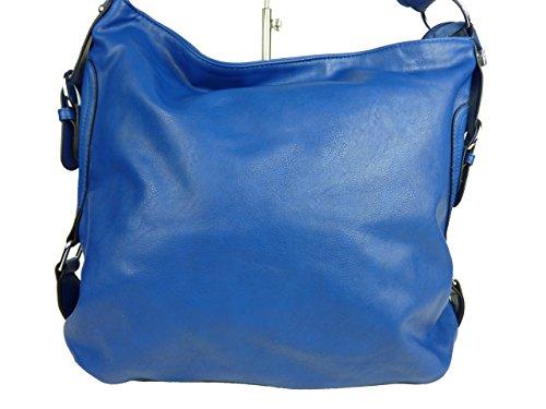 SUNNY GIRL 257 Martha große Tasche, Schultertasche in versch. Farben, 40x32x16 cm Blau
