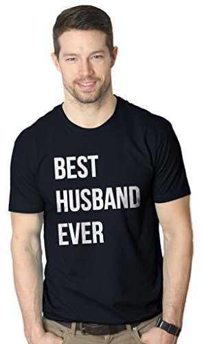 Mens Best Husband Ever T shirt Funny T shirts for Dad Fathers Day Gift Sarcasm Wedding (Navy) L