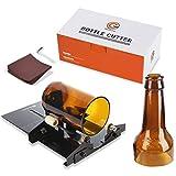 Glass Bottle Cutter, Genround [1.0 Version] Glass Bottle Cutter Machine Wine Beer Bottle Glass Cutter Cutting Tool Kit - Black