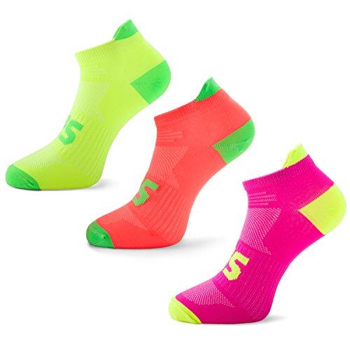 SLS3 Running Socks for Workout Ultra Light Thin - Sports Socks Women (S, Y/M/P)