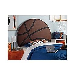 Powell Furniture Upholstered Basketball Headboard, Twin