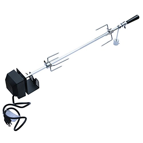 Onlyfire 6020 Universal Rotisserie Kit for Use with Most 4- and 5- Burner Grills (Excluding Weber Gas Grill), Square Spit Rod 41 1/2