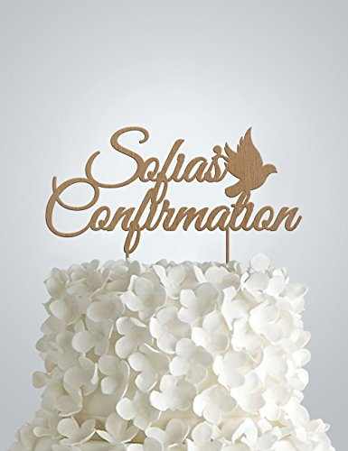 Personalized Confirmation Cake Topper, confirmation Wood Cake -