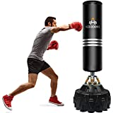 Freestanding Punching Bag 70'' 182lb Heavy Boxing Bag with Durable Suction Cup Base for Adult Youth - Men Stand Kickboxing Bags Kick Punch Bag,Standing Heavy Punching Bag