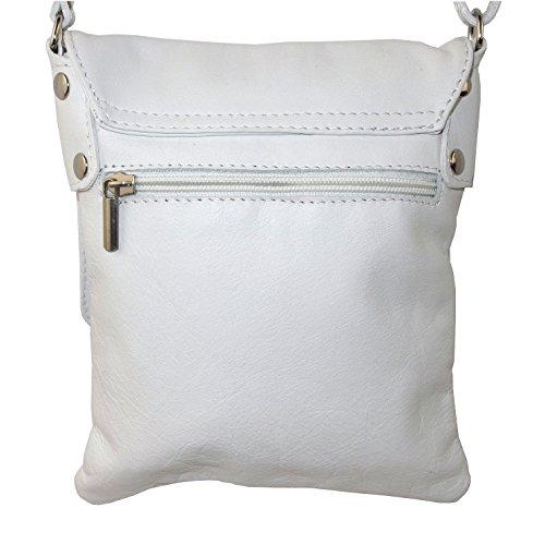 Ital Echt Leder Damentasche Handtasche Ledertasche Schultertasche Umhängetasche weiss