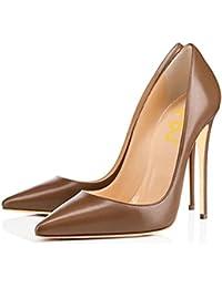 Women Glossy Fresh Colors Pointed Toe Heels Formal Dress...