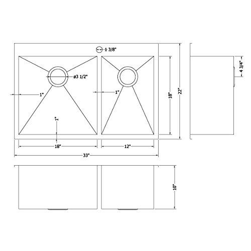 Ruvati x 22 Inch Drop-in Bowl 16 Topmount Steel Kitchen Sink -