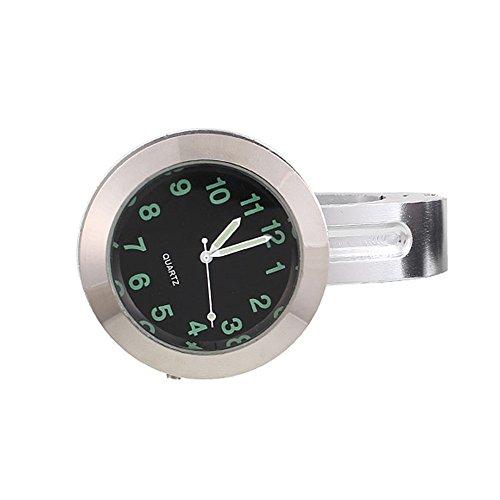 Sedeta Motorcycle Handlebar Mount Dial Clock Watch With Buckle Universal Waterproof Aluminum Alloy Glass ()