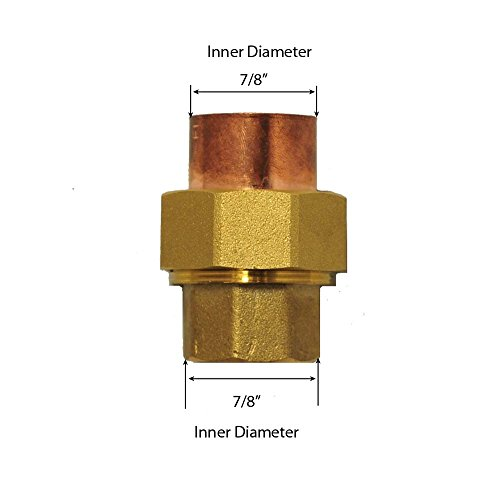 (Libra Supply 3/4'',3/4 inch, 3/4-inch Lead Free Copper Sweat Union C x C (Copper + Brass + Copper) Solder Joint, (click in for more size options)Copper Pressure Pipe Fitting Plumbing Supply)