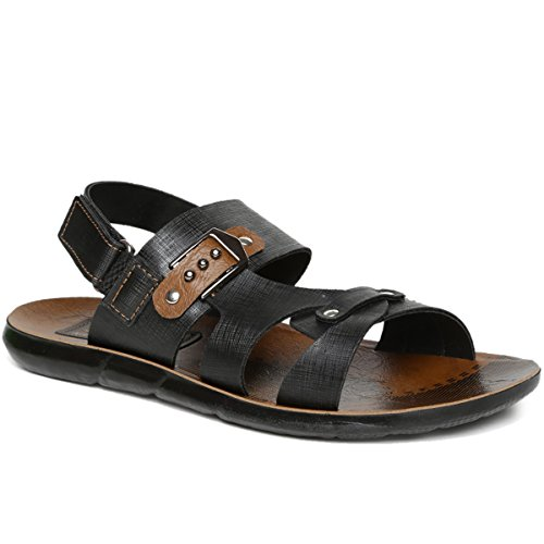 PARAGON SLICKERS Men's Black Sandals