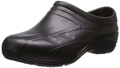 AnyWear Women's Exact Clog, Black, 5 M US