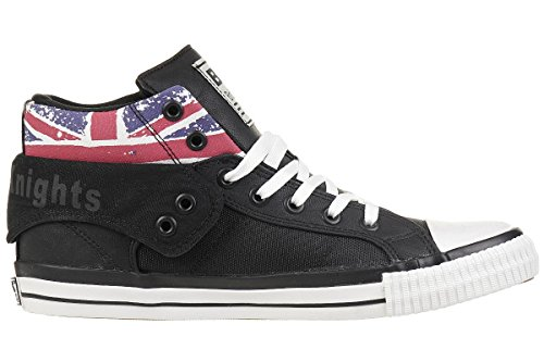 a Roco Knights British Collo Jack Uomo Sneaker Black Union Alto CRqattHnw