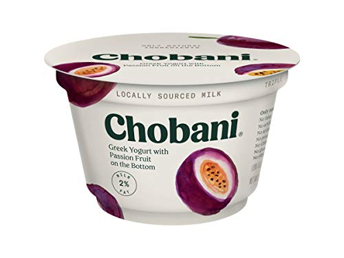 - Chobani Low Fat Passion Fruit Greek Yogurt, 5.3 Ounce -- 12 per case.