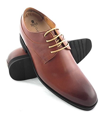 ZERIMAR Zapatos con alzas interiores de 7 Cm ¡OFERTA ESPECIAL 75 ANIVERSARIO! Fabricado en piel vacuna de alta calidad 100% piel Color cuero cuero