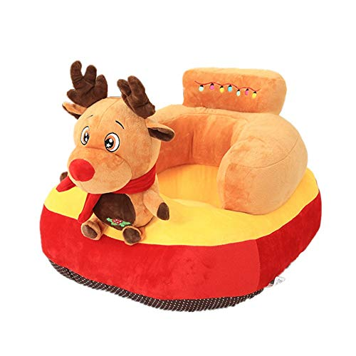 Jeterndy Learning to Sit On The Sofa Infant Support Seat Sofa Backrest Chair Kids Christmas Elk Animal Plush Toys Baby Cushion Sofa Protector Learning Sitting Chair Couch Bed Baby Seat