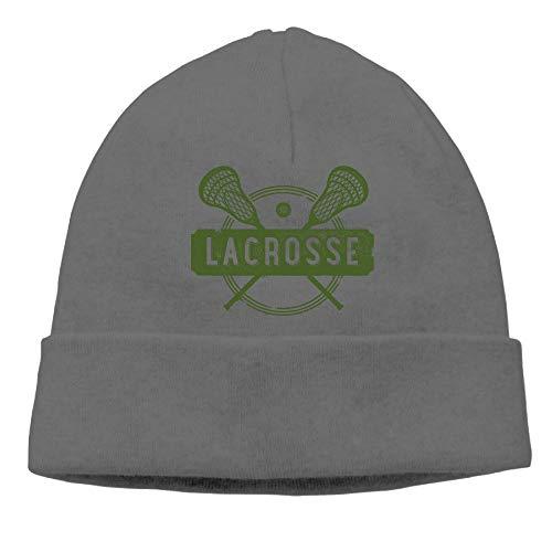 Ghhpws Lacrosse Beanie Wool Hats Knit Skull Caps Warm Winter Beanies for Men Women DeepHeather