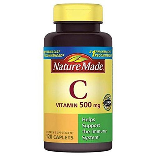 Nature Made Vitamin C Dietary Supplement Caplets, 500mg, 120 (500 Mg Supplement)