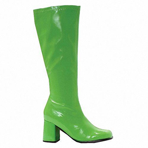 "Ellie GOGO Womens Sexy Comfortable 3"" Gogo Boots W/Zipper Green"