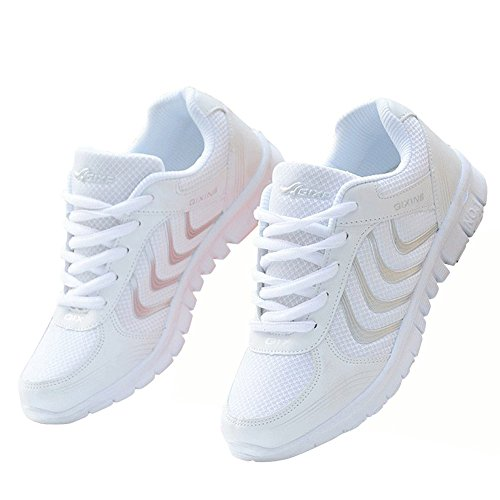 Alicegana Women's Breathable Mesh Tennis Athletic Fashion Sneakers Walking Sports Road Running Shoes Plus Size