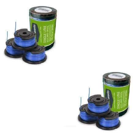 Greenworks .065-Inch Single Line String Trimmer Replacement Spool 3-Pack 29252-2 Packs by Greenworks