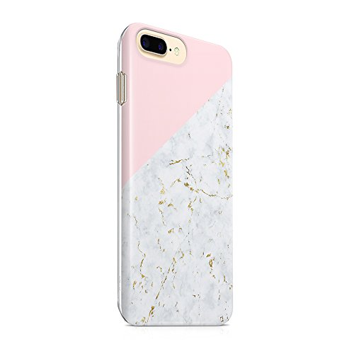 iPhone 7 Plus Case iPhone 8 Plus Case (5.5) uCOLOR Pink Geometric Marble Ultra Slim Hard Shell Soft TPU Dual Layer Protective Case for iPhone 7 Plus/8 Plus