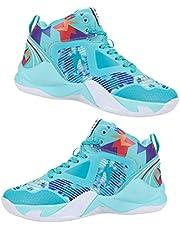 Happyyami Unisex Basketball Shoes Mens Comfortable Sport Shoes Mens Fashion Sneakers Breathable 24.0CM