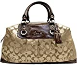 Coach Signature Large Ashley Sabrina Business Satchel Duffle 15440 Khaki Mahogany