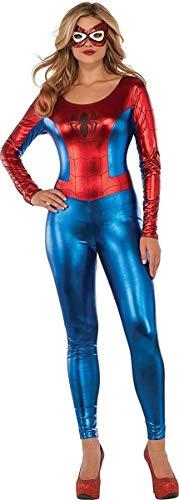 Marvel Universe Superhero Style Deluxe Spider Girl Catsuit Costume, Multi, Small
